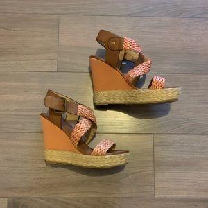 Boho style heeled sandals
